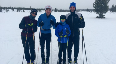 The Chandler family during a family cross-country ski outing near West Yellowstone, Montana. Photo courtesy of Eric Chandler.