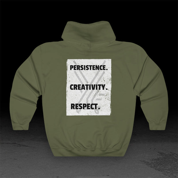 Persistence Creativity Respect - Heavy Hoodie