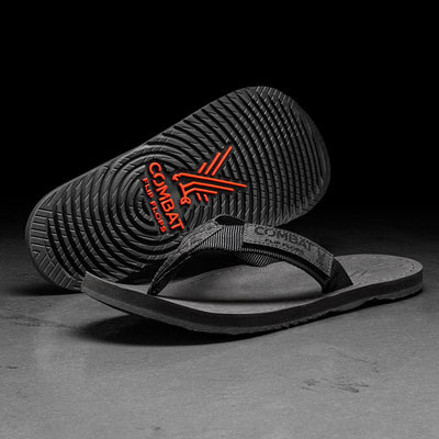 Combat Flip Flops Mens Floperator black tactical military ranger veteran sandals worn by marines seals special forces army and navy