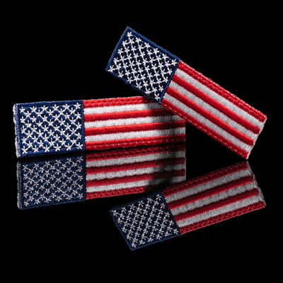 Floperator Embroidered U.S. Flag Patch Set