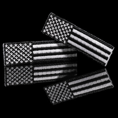 Floperator Embroidered Subdued U.S. Flag Patch Set
