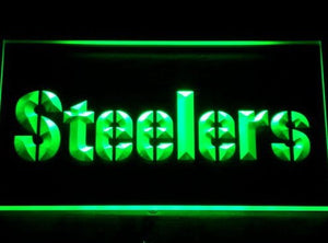 145-y Pittsburgh Steelers Logo Bar Neon Light Sign