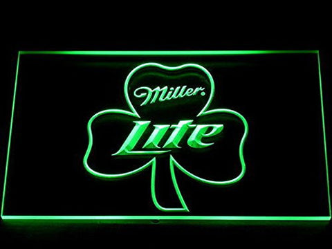 Miller Lite Neon Sign (Man Cave. Shamrock. Beer. Bar. Pub. LED)