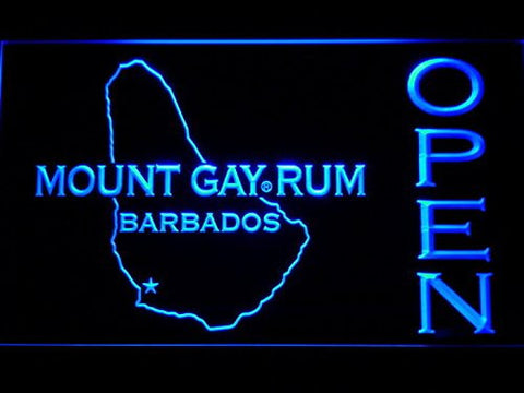 Mount Gay Rum Barbados OPEN Neon Sign (Light. Bar. LED. Man Cave. 072-B)