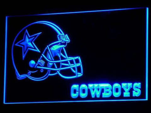 Dallas Cowboys Helmet Neon Sign (Light. 236-b. Beer Bar. LED)