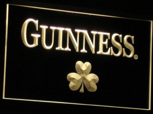 Guinness Neon Signs (Shamrock. Beer Bar. Light. LED)