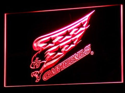 Washington Capitals Neon Sign (Beer Bar. LED. Light. B105-b)