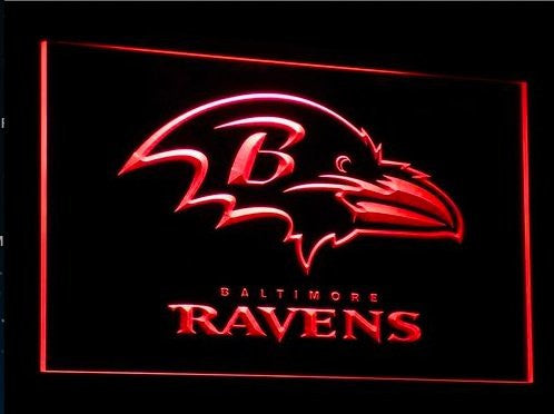Baltimore Ravens Neon Sign (Light. B064-b. Super Bowl. LED)