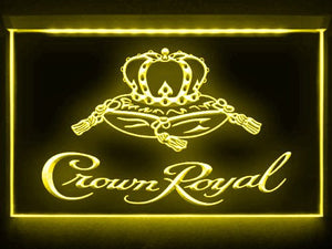 Crown Royal Neon Sign (Derby. Whiskey. Beer Bar. Light. LED)