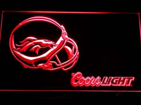 Denver Broncos Helmet Coors Neon Sign (Light. B459-b. LED)