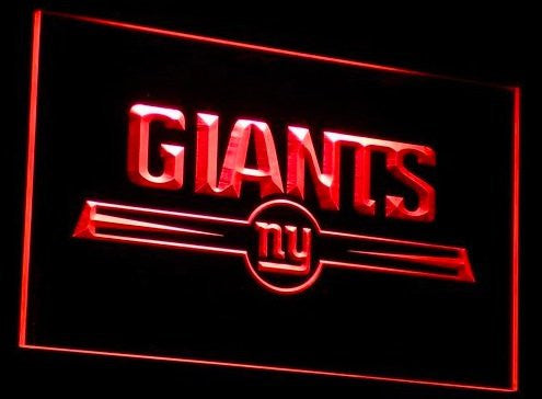 New York Giants Neon Sign (Light. B051-b. NY. Logo. Bar)