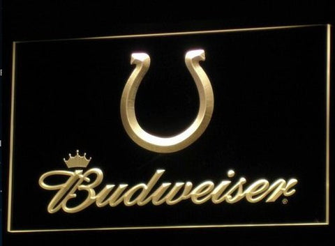 Indianapolis Colts Budweiser Neon Sign (B277-b. Light. LED)