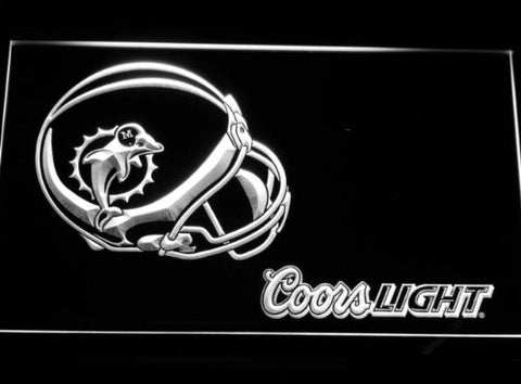 Miami Dolphins Helmet Coors Neon Sign (Light. B466-b. LED)