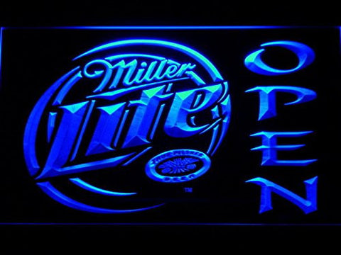Miller Lite Open Neon Sign (Light. Beer Bar. LED. Man Cave. 029 B)