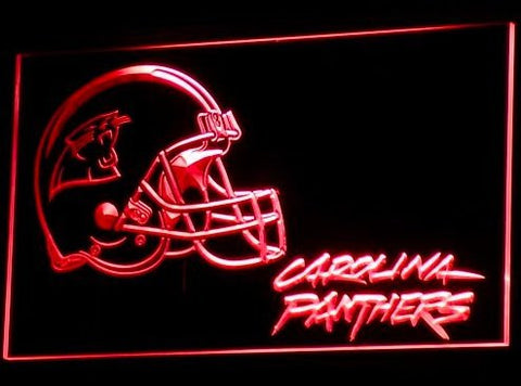 Carolina Panthers Helmet Neon Sign (Pub. Bar. Light. B314-b. LED)