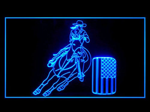 Barrel Racing Neon Sign (Light. Display. Bar. Man Cave. LED)