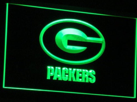 Green Bay Packers Neon Sign (Bar. Light. LED)