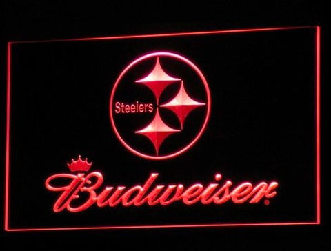 Pittsburgh Steelers Budweiser Neon Sign (Light. LED)