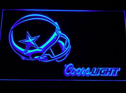 Dallas Cowboys Helmet Coors Neon Sign (Light. B458-b. LED)
