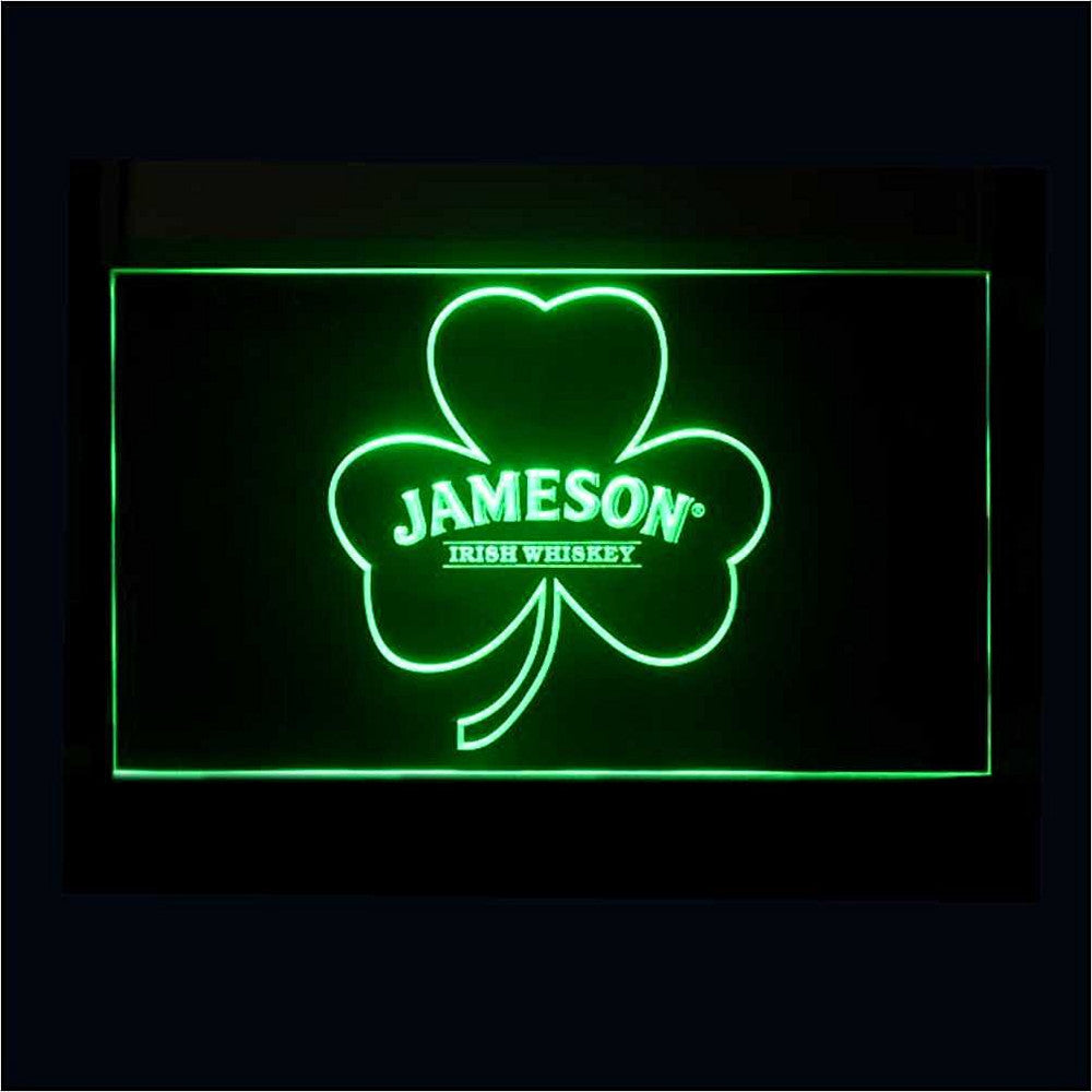 Jameson Whiskey Neon Sign (Shamrock. A215-g. Light. LED)