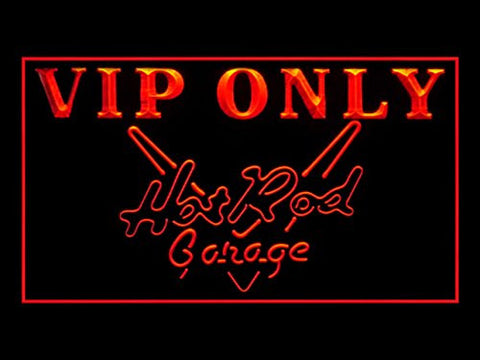 Hot Rod Garage VIP Only Neon Sign (Beer. Bar. Light. LED. Drink)