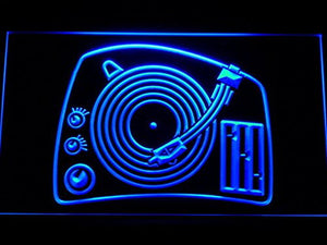DJ Turntable Mixer Music Spinner Neon Sign (LED. Light. Man Cave. C159 B)