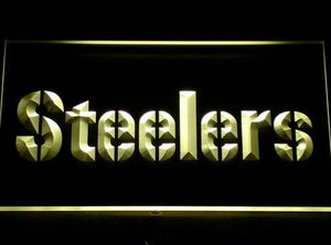 Pittsburgh Steelers Neon Sign (145-y. Logo. Bar. Light)