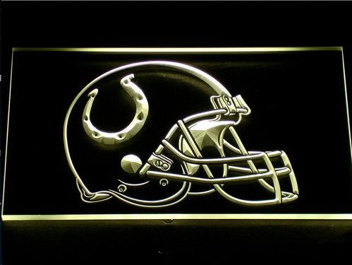 Indianapolis Colts Helmet Neon Sign (Bar. Light. 241-b. LED)