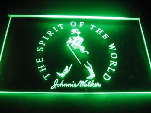 Johnnie Walker Spirit of the World Neon Sign (A189-b. LED)