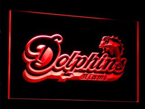 Miami Dolphins Neon Sign (B070-b. Bar. Light. Football. LED)