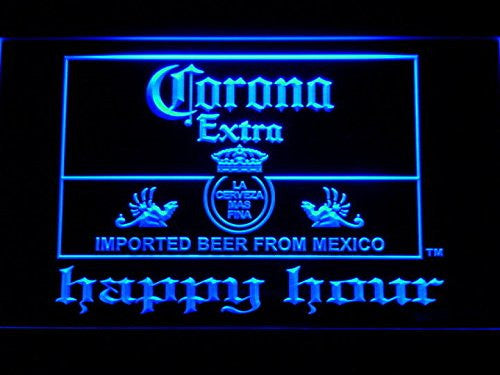 Corona Extra Happy Hour Neon Sign (Beer. Light. Man Cave. 611 B. Bar. LED)