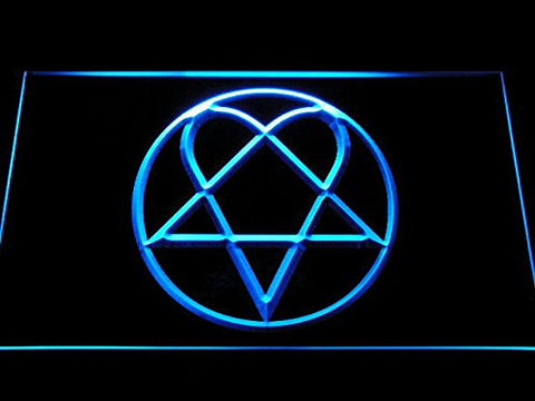 Him Neon Sign (Heartagram. Light. Band. LED. Man Cave. C248 B)