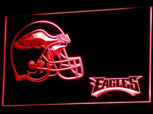 Philadelphia Eagles Helmet Neon Sign (B332-g. Bar. Light. LED)