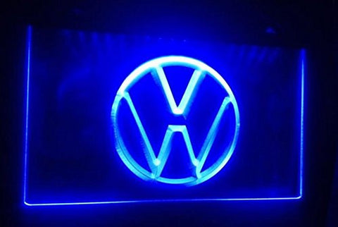 Volkswagen Neon Sign (Light. VW. Car. Logo. Services. LED)