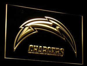 San Diego Chargers Neon Sign (Light. Football. B056-y. LED)