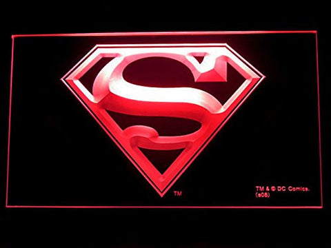 Superman Neon Sign (Logo. LED. Light)