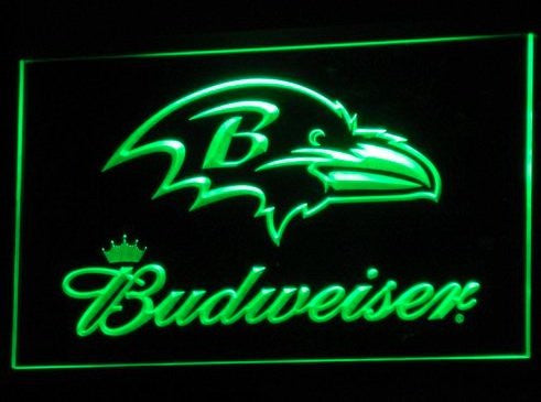 Baltimore Ravens Budweiser Neon Sign (Bar. Light. B291-b. LED)