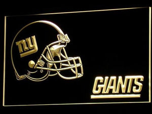 New York Giants Helmet Neon Sign (NR. Light. b329-b. NY. LED)