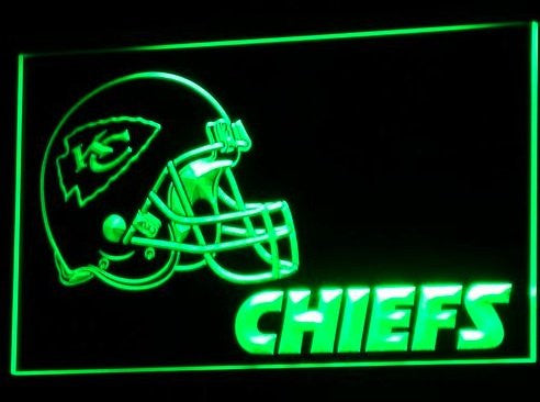 B324-r Kansas City Chiefs Helmet Nr Bar Neon Light Sign