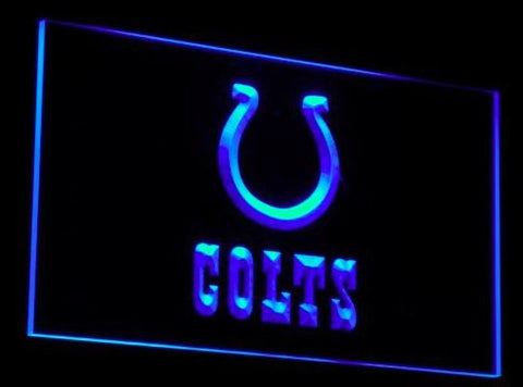 Indianapolis Colts Neon Sign (Light. Sport Bar. B044-b. LED)