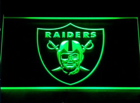 Oakland Raiders Neon Sign (Light. Football. Beer Bar. 143-b. LED)