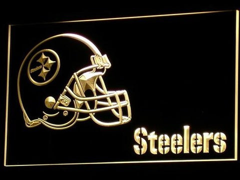 Pittsburgh Steelers Helmet Neon Sign (Light. B333-r. Nr. LED)