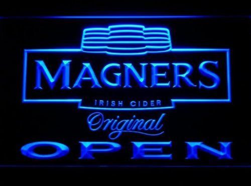 Magners Irish Cider Open Neon Sign (Bar. Light. LED)