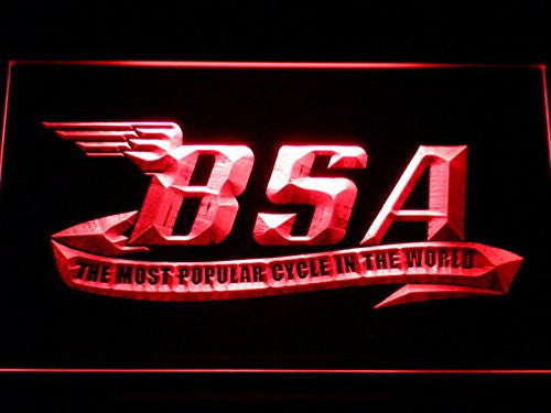 BSA Motorcycles Cycle Neon Sign (Light. D209-r. LED)