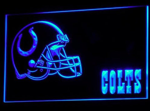 B322-b Indianapolis Colts Helmet Nr Neon Light Sign