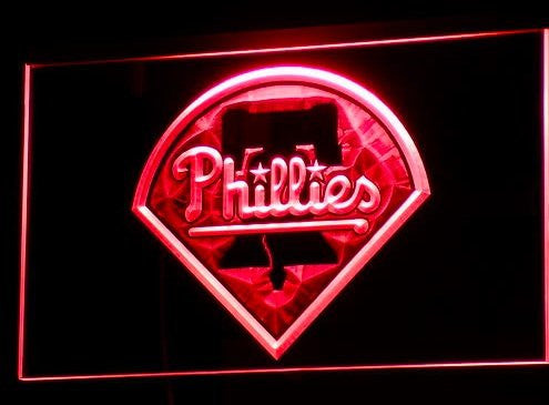 Philadelphia Phillies Neon Sign (Bar. Pub. Light. B139-r. LED)
