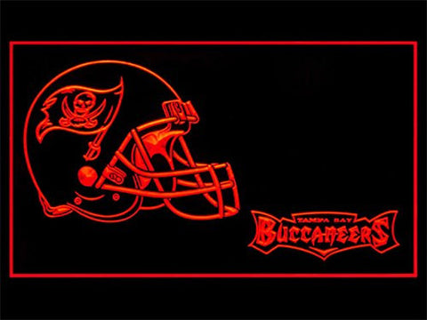 Tampa Bay Buccaneers Helmet Neon Sign (LED. Light)