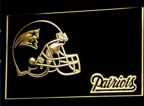 New England Patriots Helmet Neon Sign (Bar. Light. B327-r. LED)