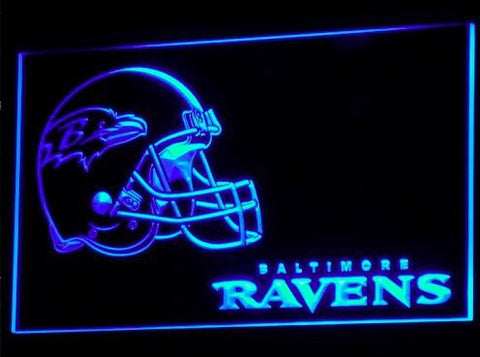 Baltimore Ravens Helmet Neon Sign (B312-b. Bar. Light. LED)