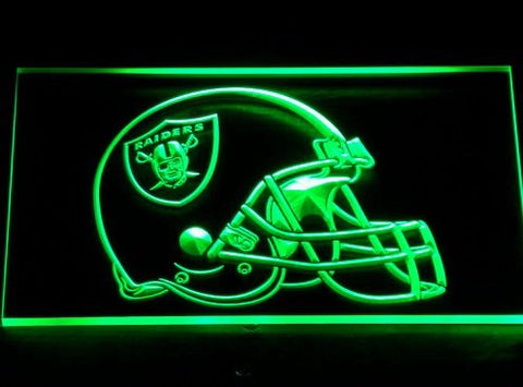 Oakland Raiders Helmet Neon Sign (Bar. Pub. Light. 250-b. LED)